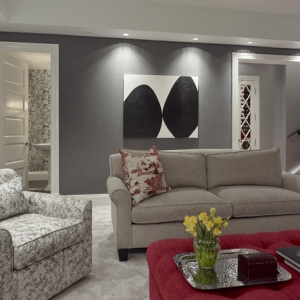 Robert Burg Design Chateau On Central Media Room Space