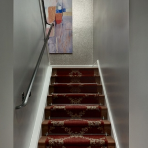 Robert Burg Design Chateau On Central Stairway Up